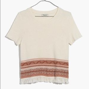 MADEWELL Fringed Medina Sweater Tee